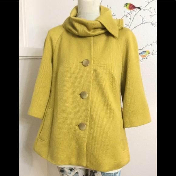 Tabitha Simmons Jackets & Blazers - Anthropologie Tabitha Mustard Yellow Wool Blend
